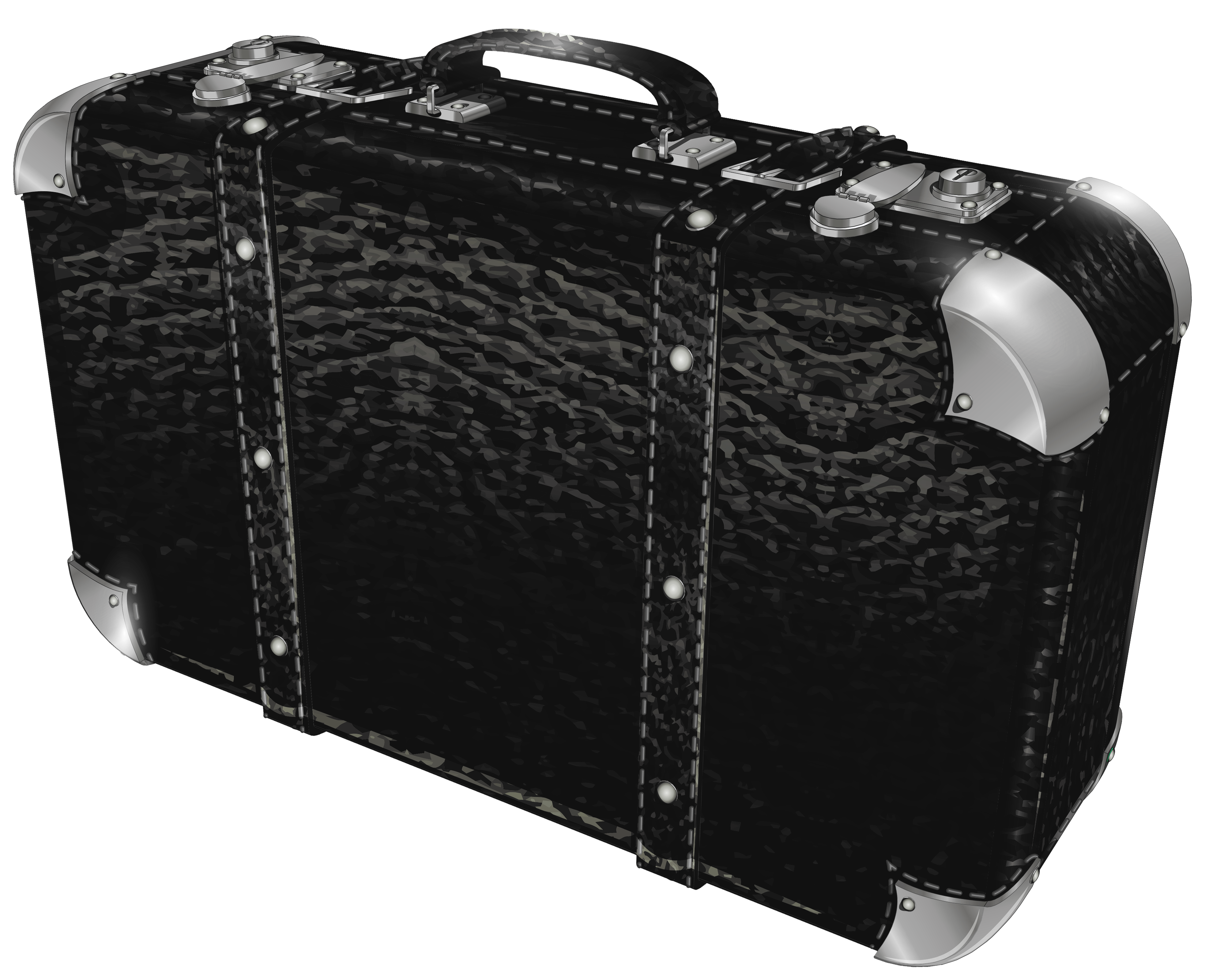 Black suitcase png picture. Luggage clipart 2 bag