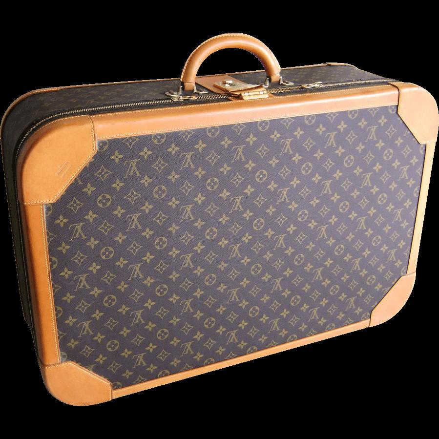 Luggage clipart antique luggage. Vuitton suitcase transparent png