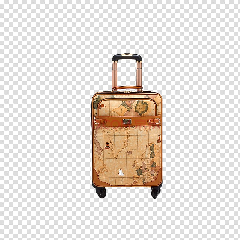 Beige leather germany hand. Luggage clipart antique luggage