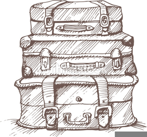 Luggage clipart antique luggage. Vintage free images at