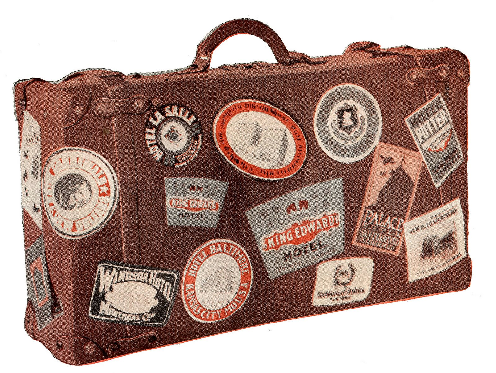 Luggage clipart antique luggage. Free vintage cliparts download