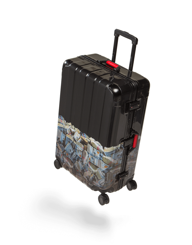 Luggage clipart baggage cart. Money rolled full size