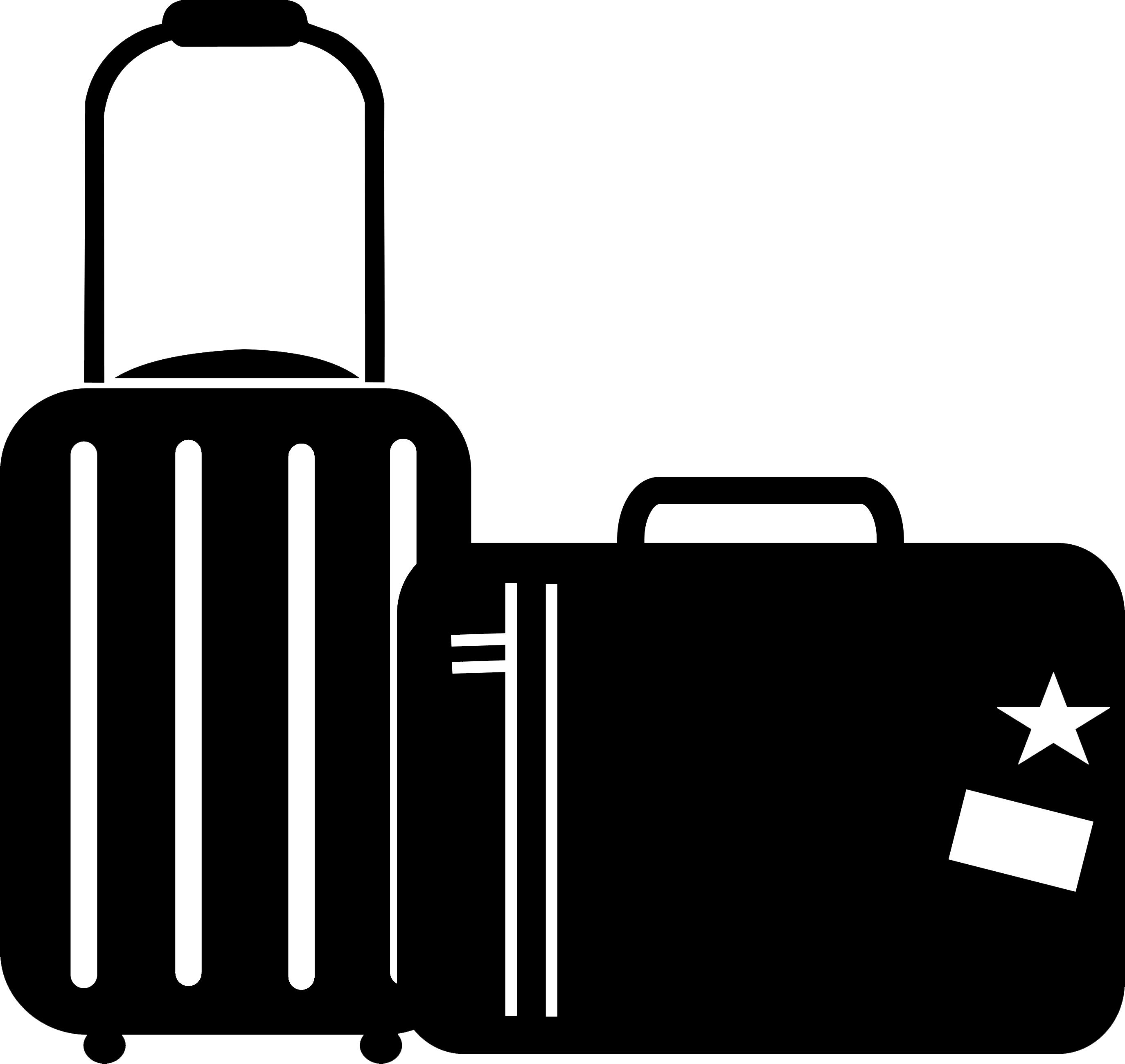 Luggage clipart black and white.  collection of travel