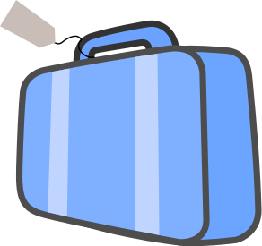 Luggage Clipart blue suitcase 2 - 292 X 275 Free Clip Art ...