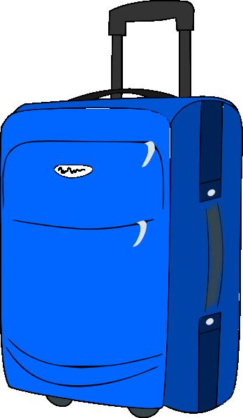 Blue Baggage Clip Art at Clker.com - vector clip art online ...