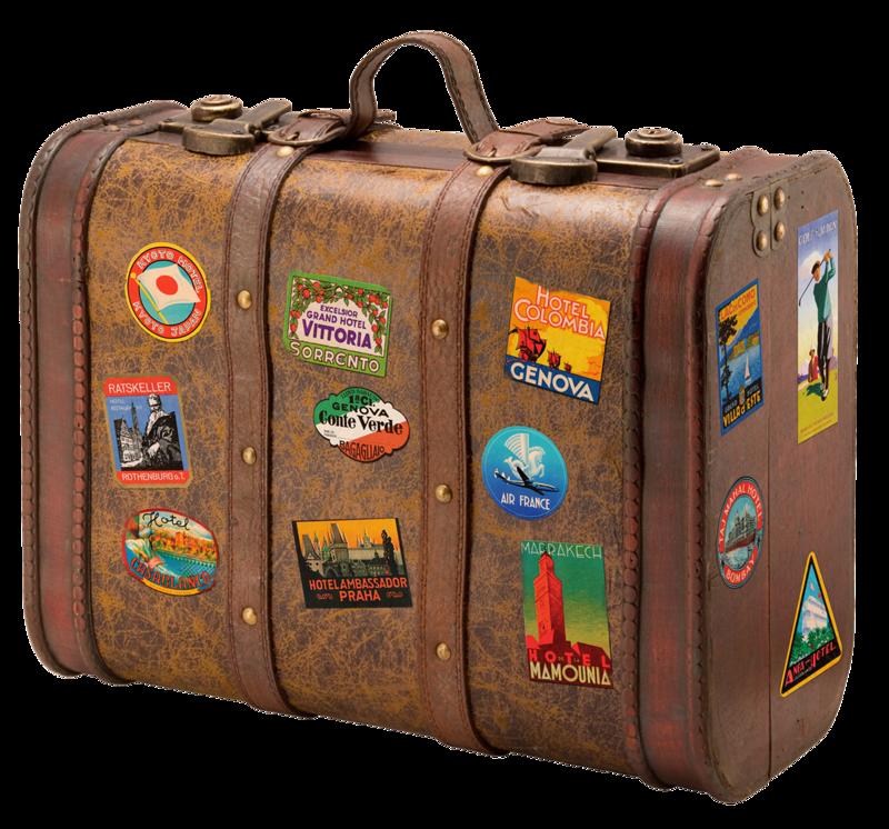 Honeydesigns vivalafrance elem png. Stamp clipart luggage