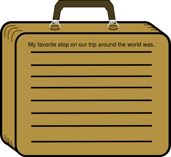 Lined suitcase clip art. Luggage clipart border