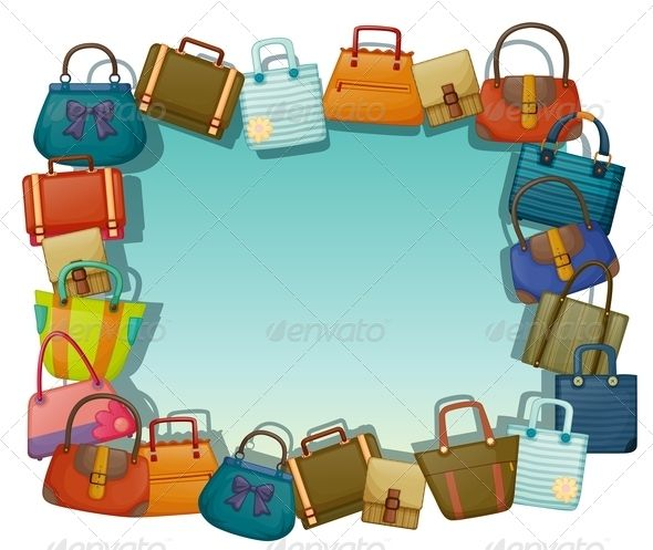 Free download clip art. Luggage clipart border