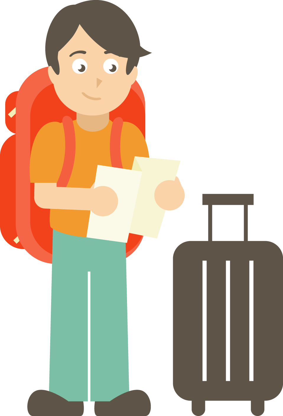 Luggage clipart boy. What kind of food