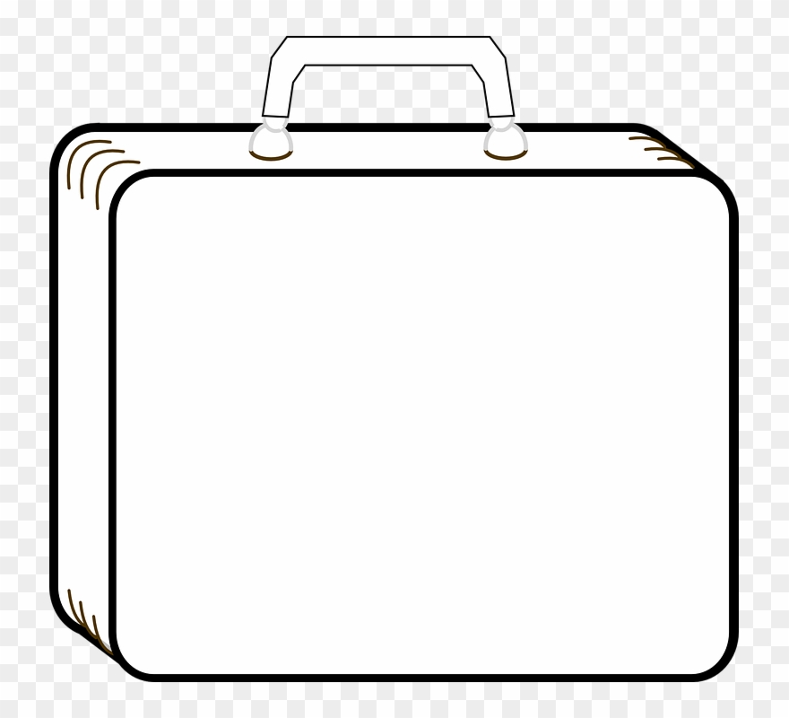 Download outline suitcase baggage. Luggage clipart briefcase