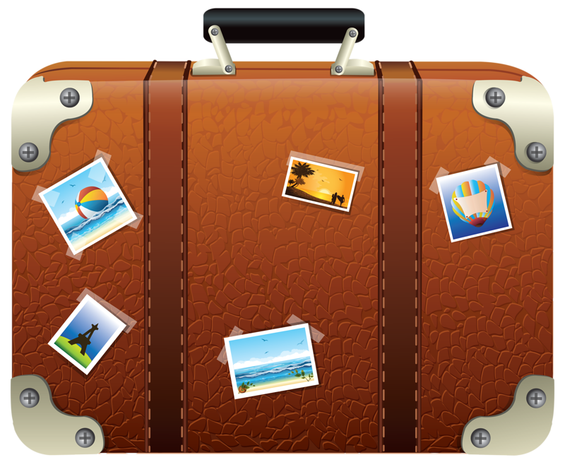 travel clip art. Luggage clipart brown suitcase