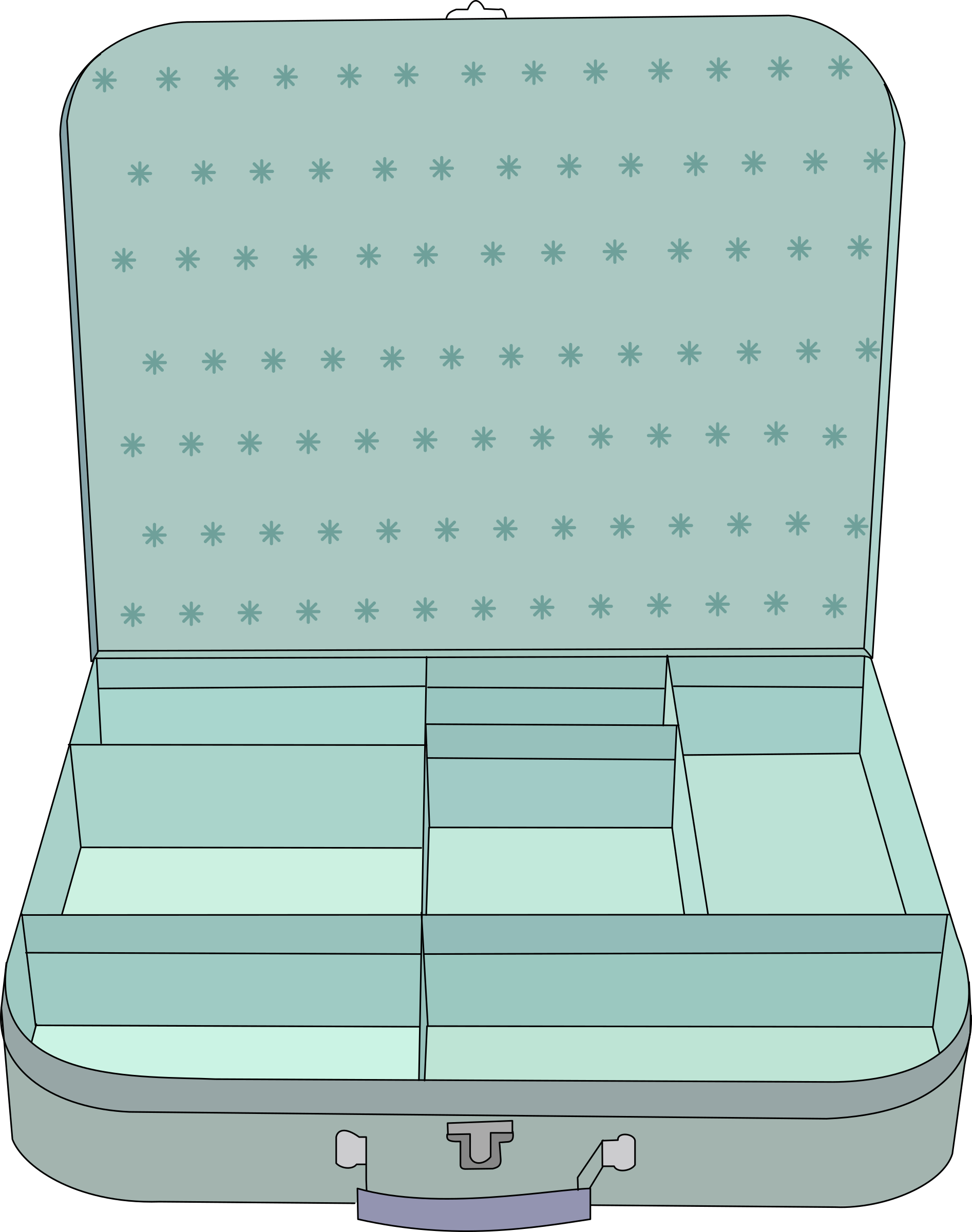 With compartment big image. Luggage clipart empty suitcase