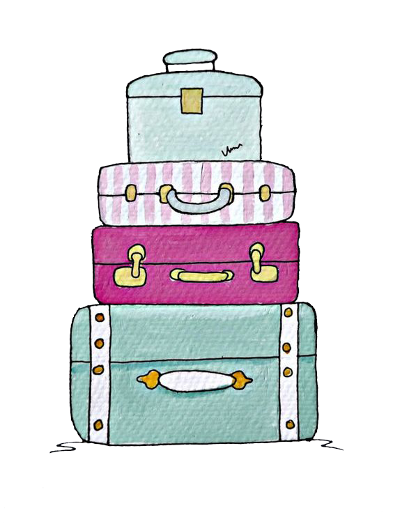 Drawing baggage trunk clip. Luggage clipart green suitcase