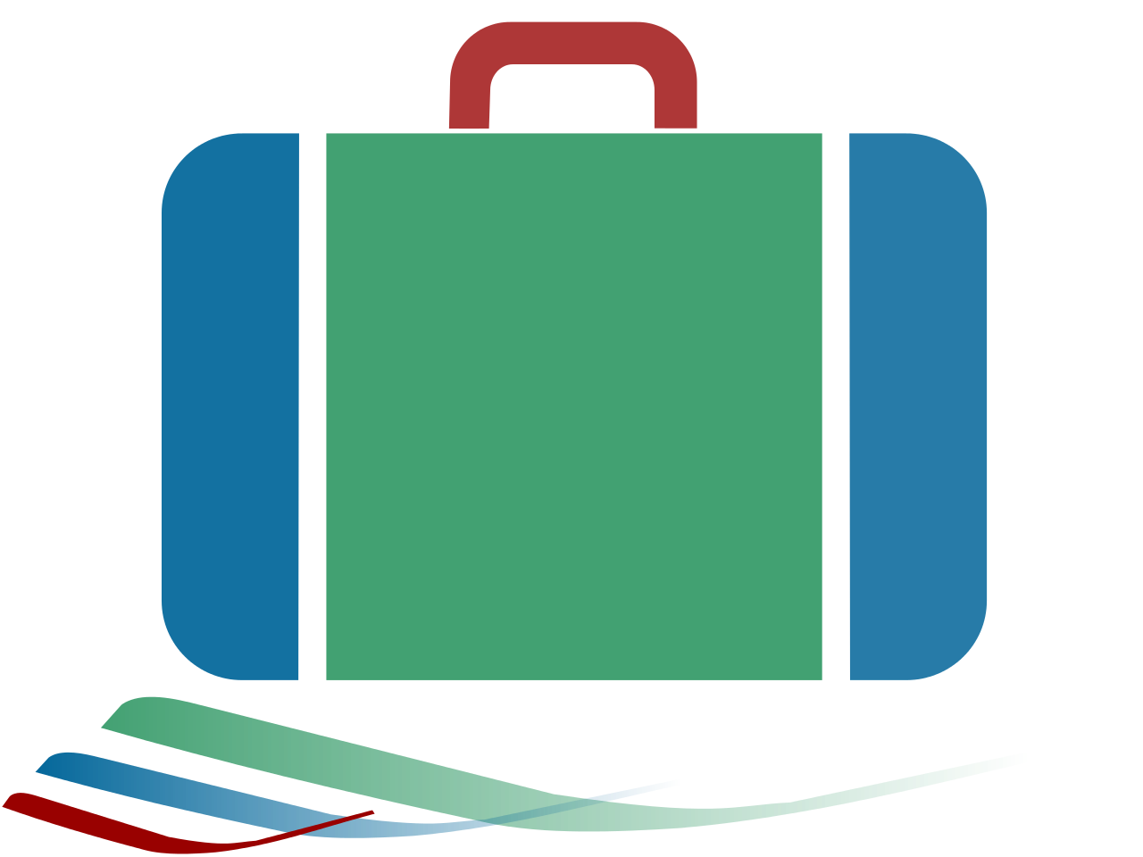 Luggage clipart green suitcase. File icon blue red