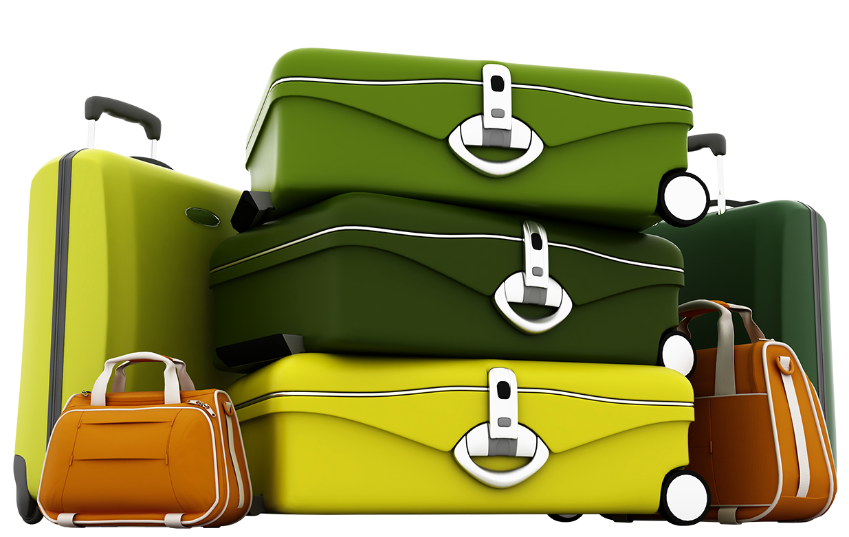 Luggage clipart green suitcase. Suitcases png picture gallery