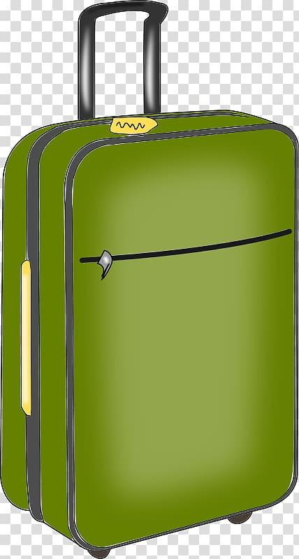 Baggage travel transparent . Luggage clipart green suitcase