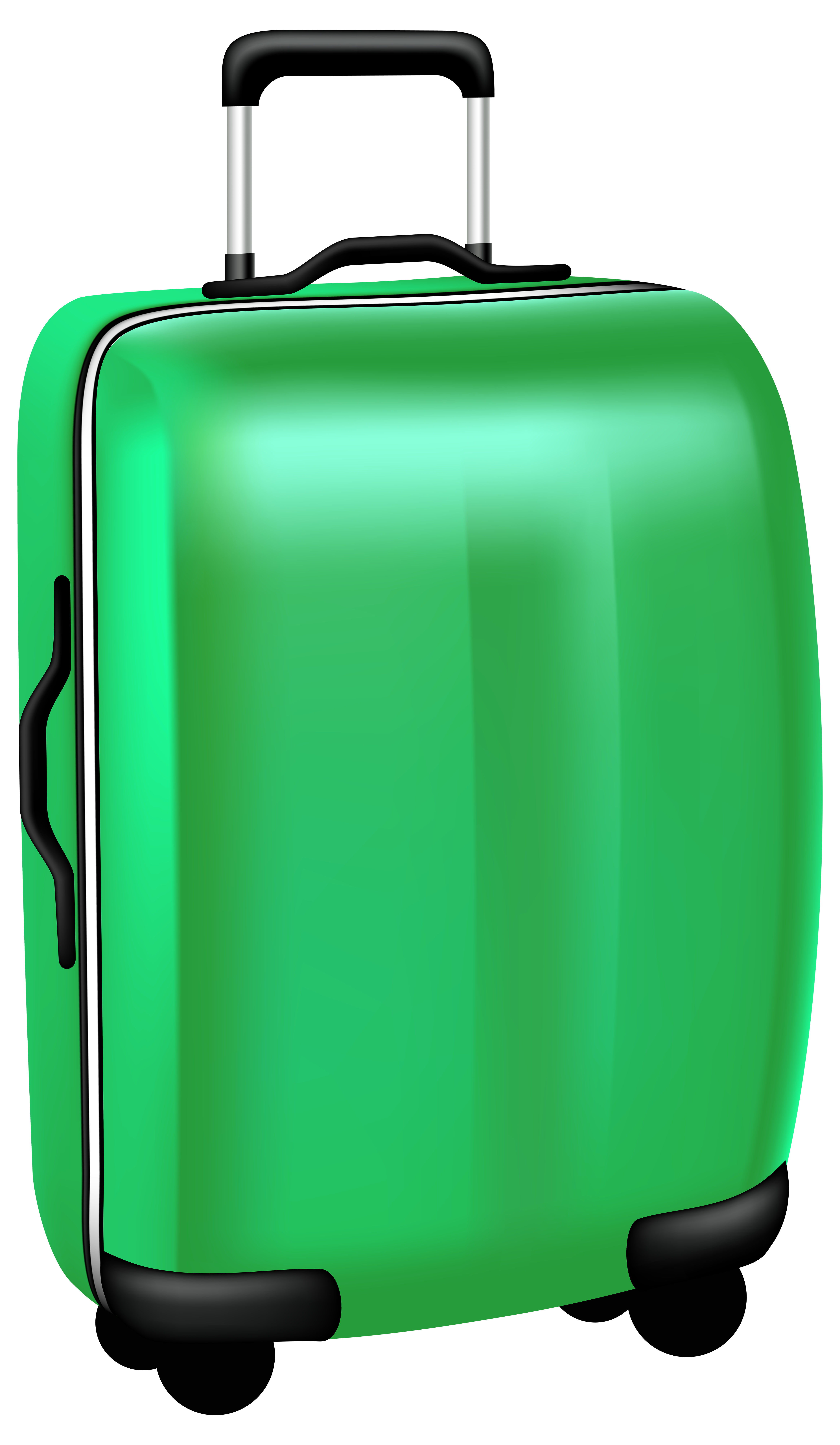 Trolley travel bag png. Luggage clipart green suitcase