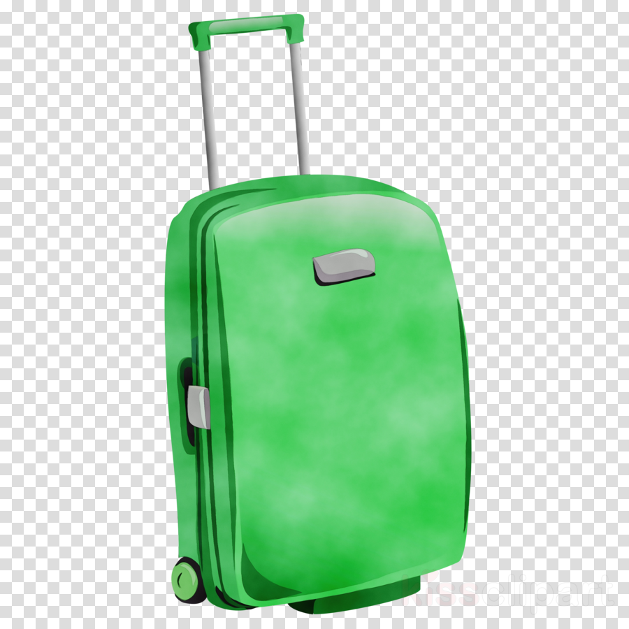 Hand bag baggage . Luggage clipart green suitcase