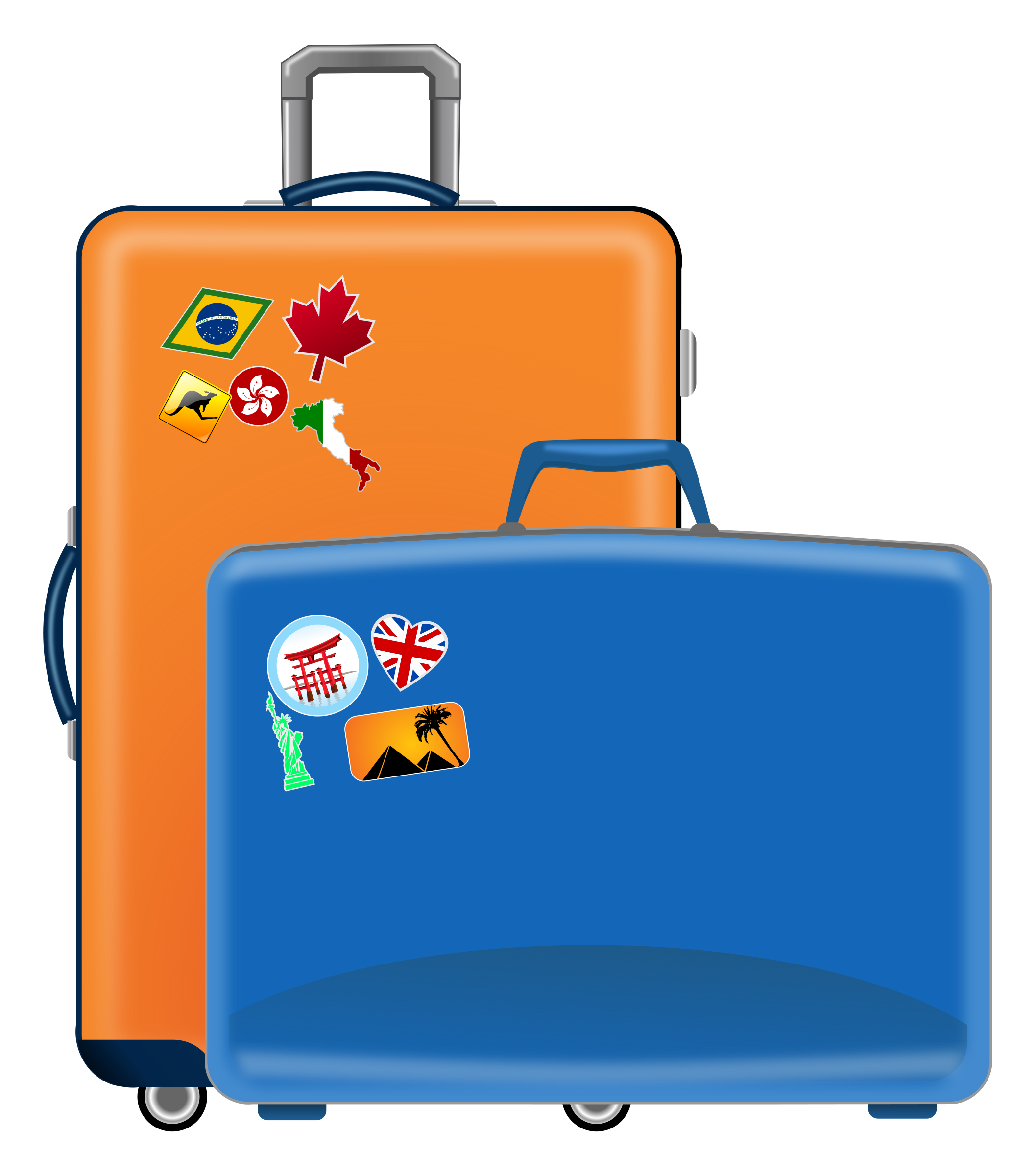 Suitcases icons png free. Luggage clipart holiday
