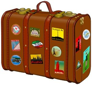School no suitcase travel. Luggage clipart holiday