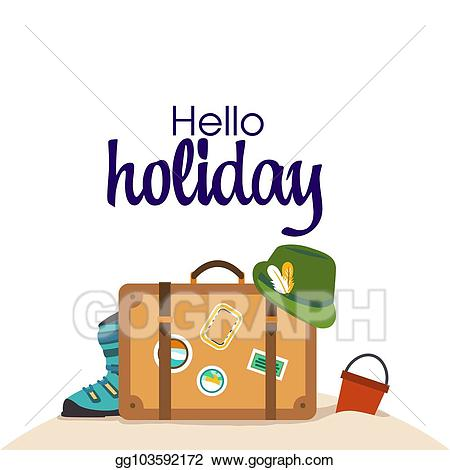 Luggage clipart holiday. Free download clip art