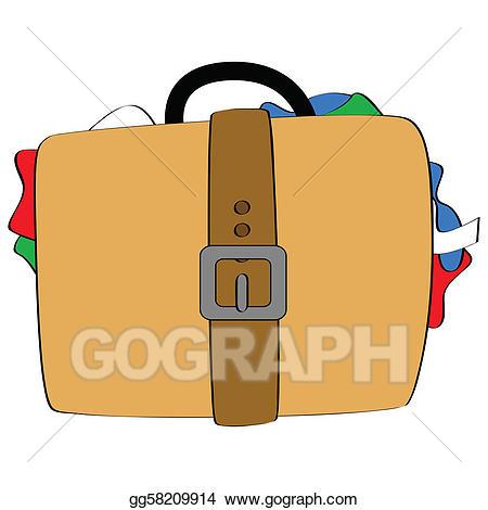 Vector stock bulging . Luggage clipart illustration