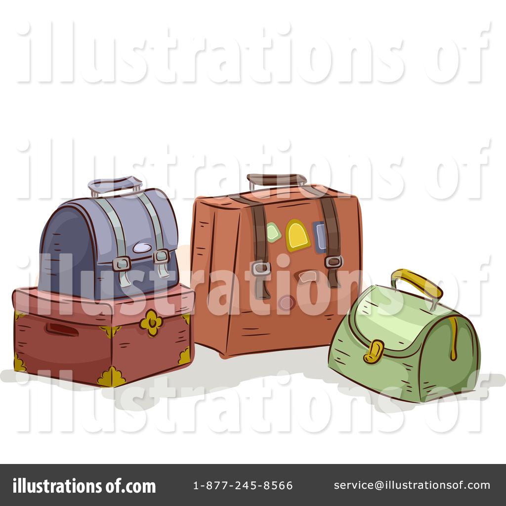 By bnp design studio. Luggage clipart illustration