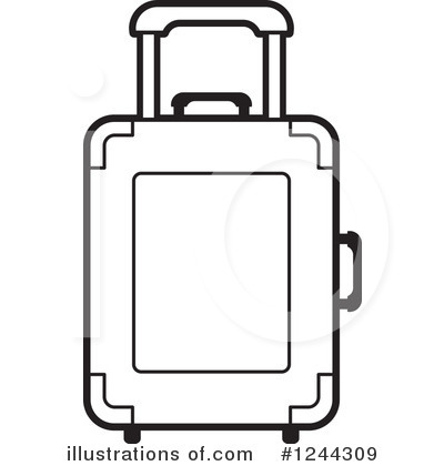 Luggage clipart illustration. By lal perera