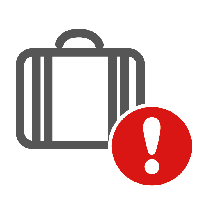 Acceptable items unacceptable. Luggage clipart lost luggage