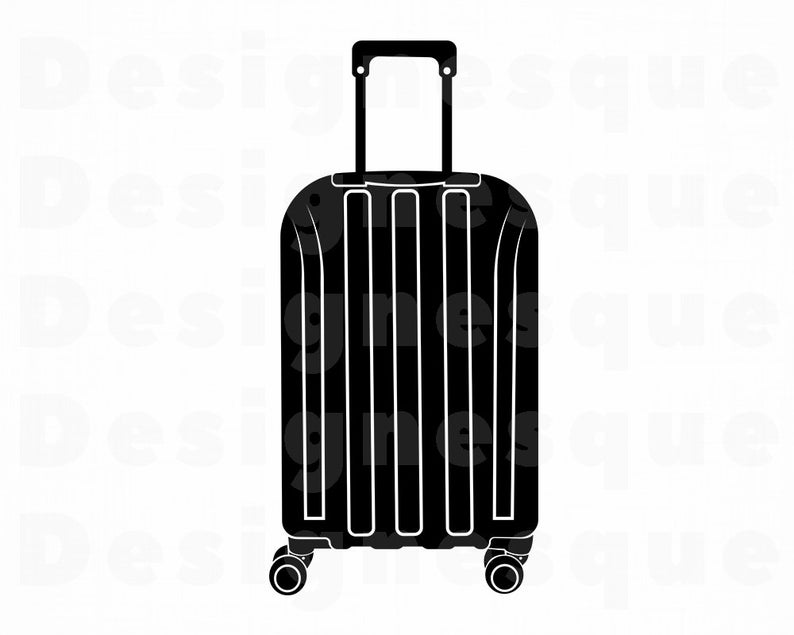 Svg suitcase vacation travel. Luggage clipart lugagge