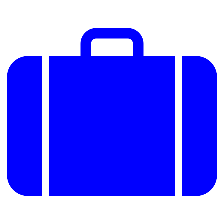 File icon blue svg. Luggage clipart opened suitcase