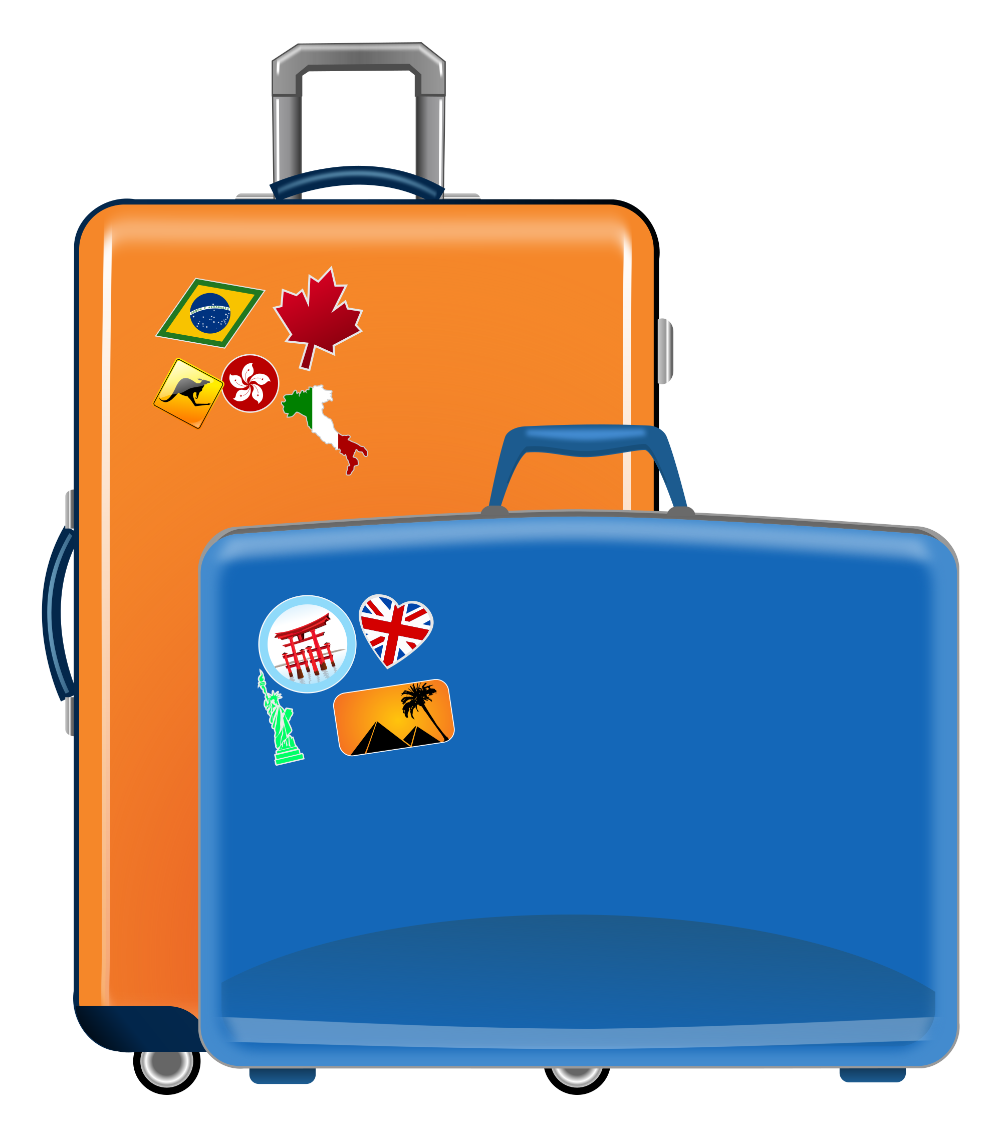 File suitcases svg wikimedia. Luggage clipart opened suitcase