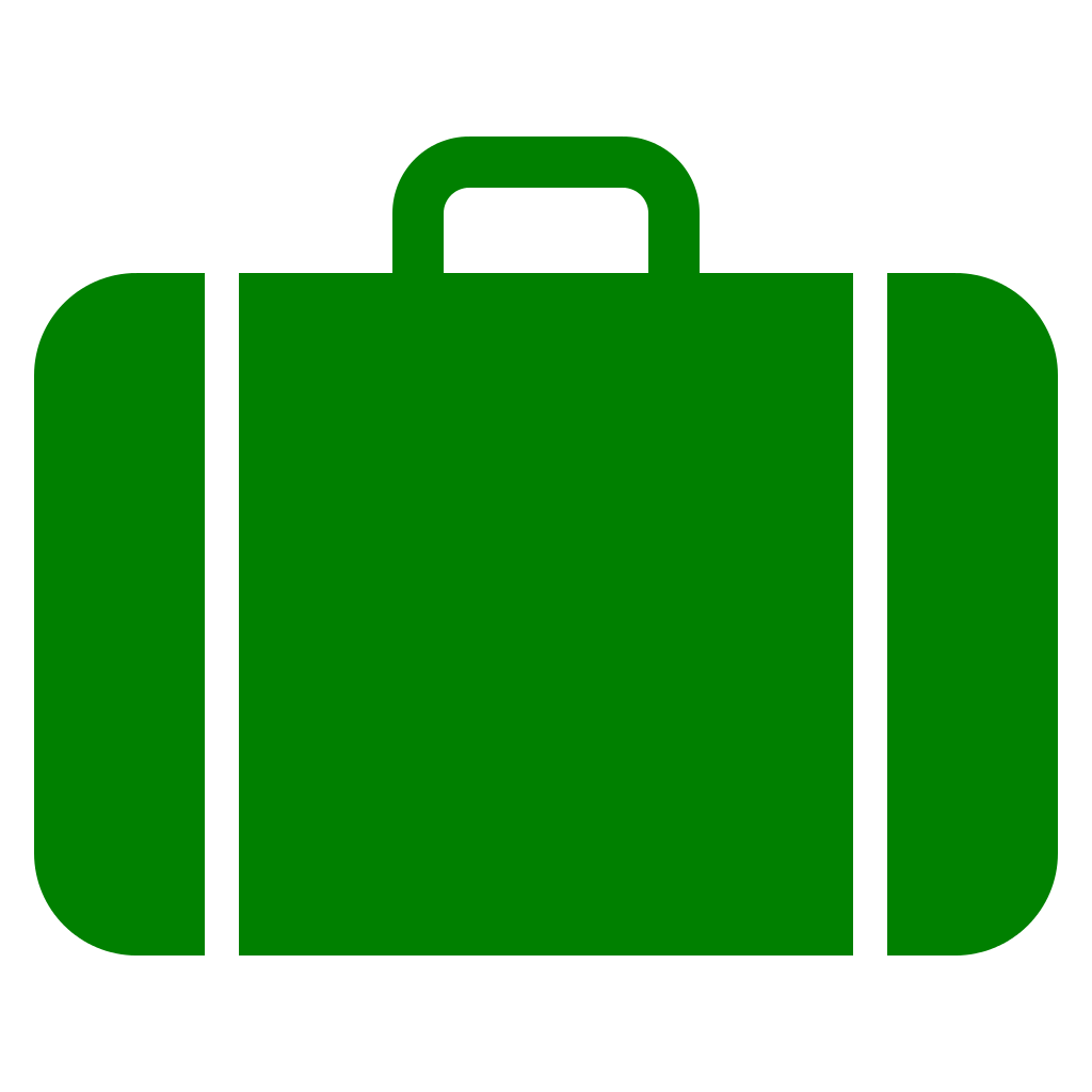 Luggage clipart opened suitcase. File icon green svg
