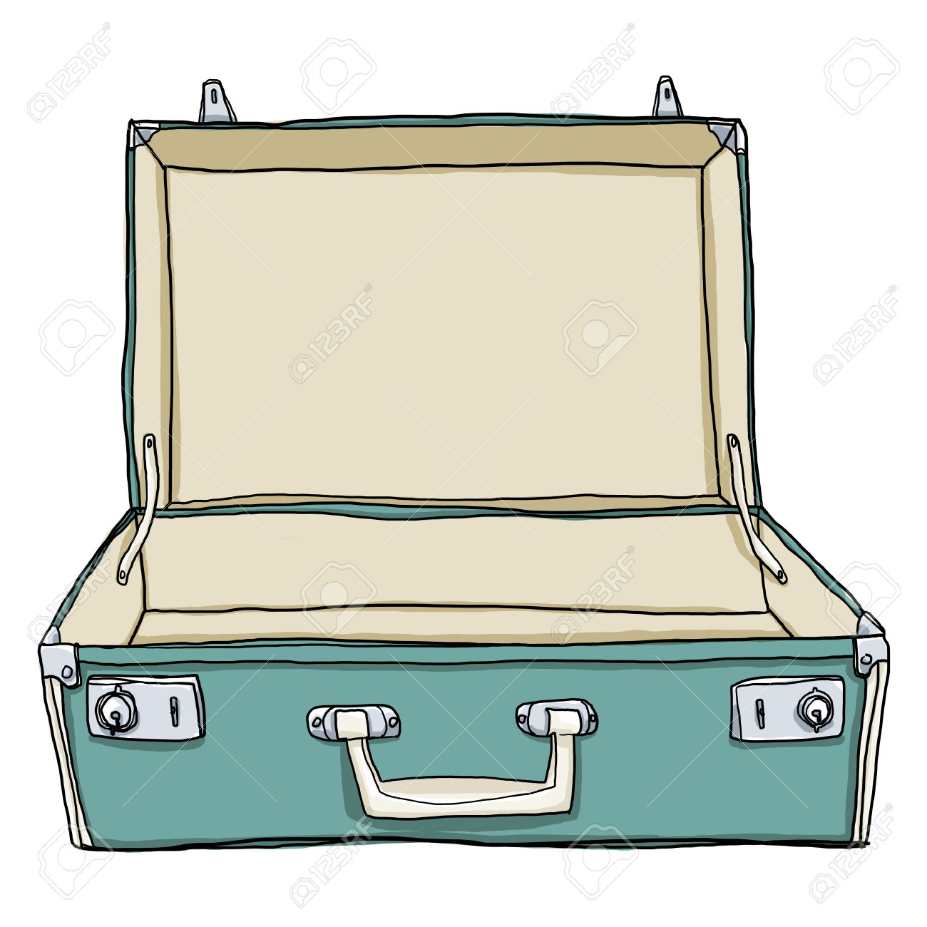 Luggage clipart opened suitcase. Collection of free download