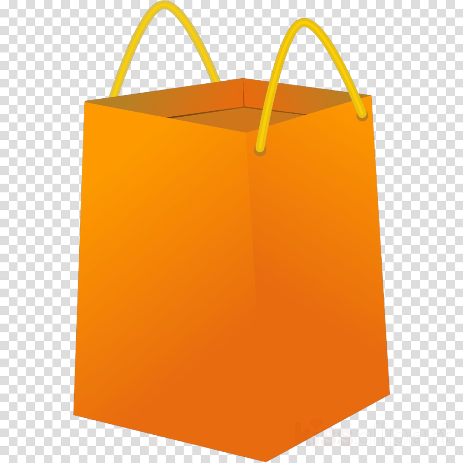 Shopping bag yellow transparent. Luggage clipart orange