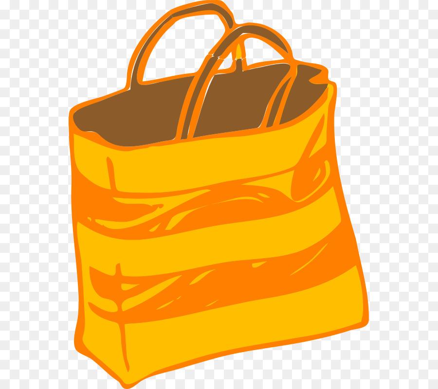 Luggage clipart orange. Shopping bag yellow transparent