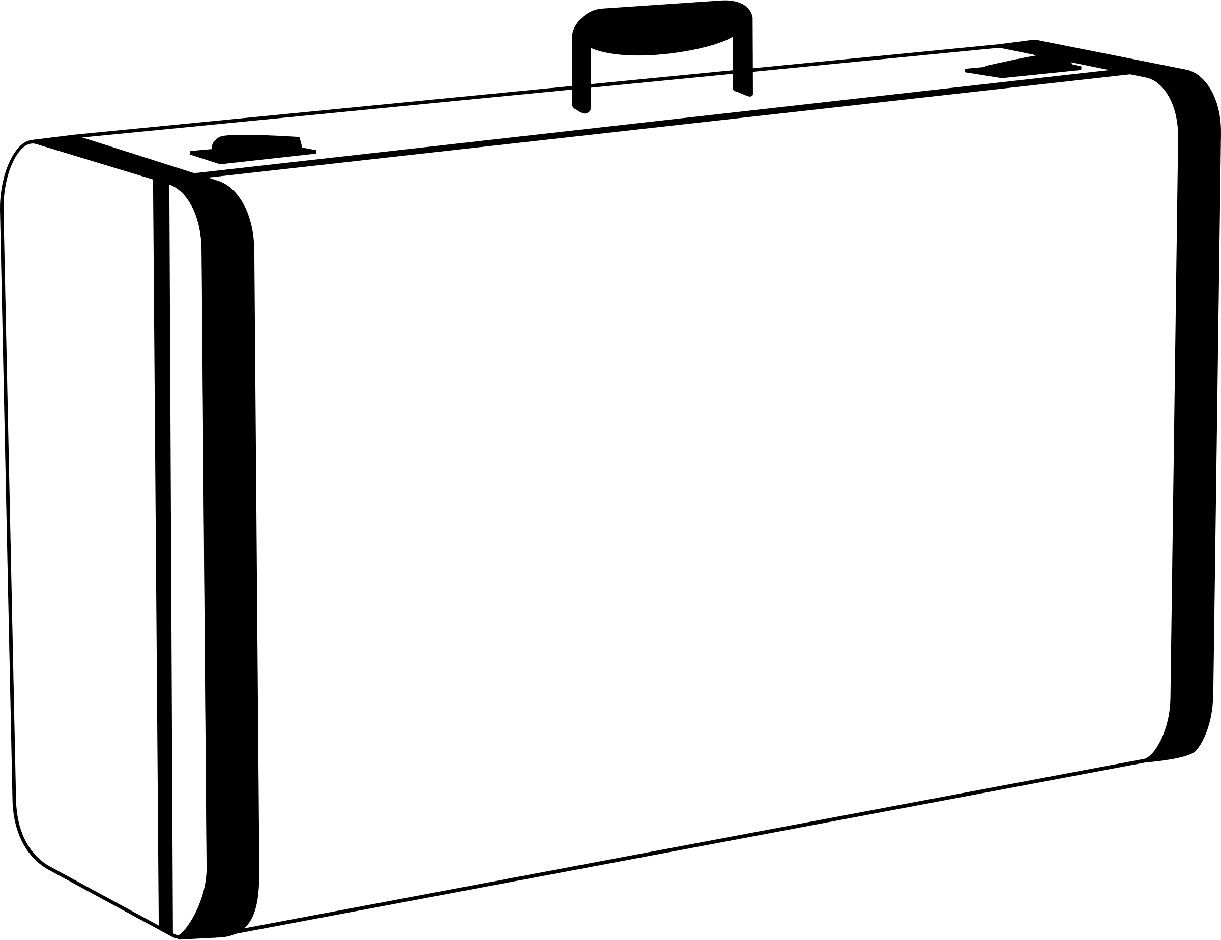 collection of suitcase. Luggage clipart outline