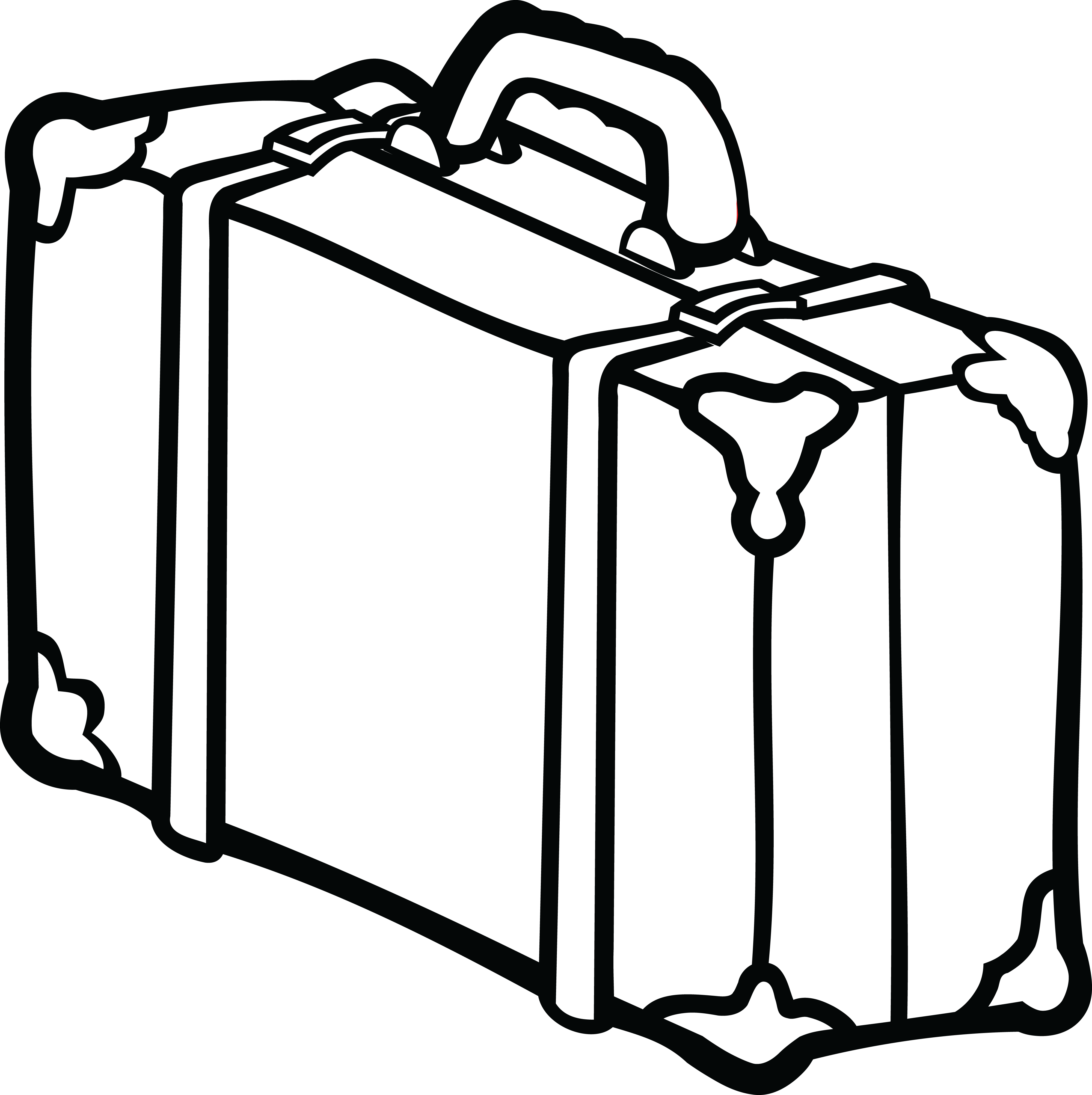 Luggage clipart outline.  collection of suitcase
