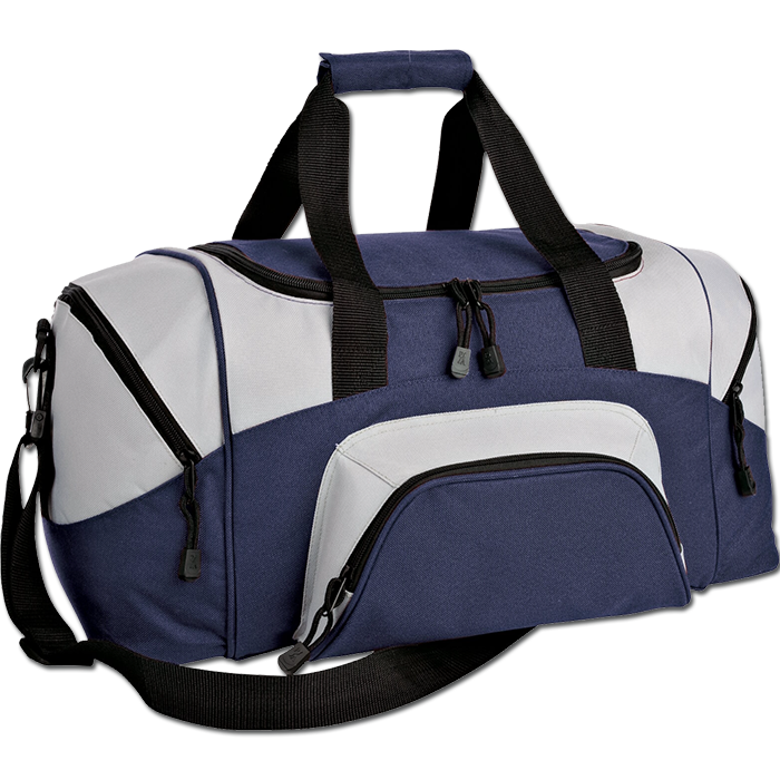 Colorblock small sport duffel. Luggage clipart overnight bag