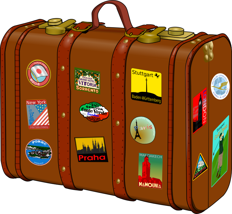 Luggage clipart overnight bag. Mad about travel dam