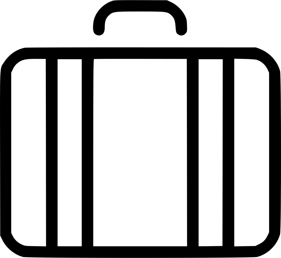 Travel baggage svg png. Luggage clipart pack suitcase
