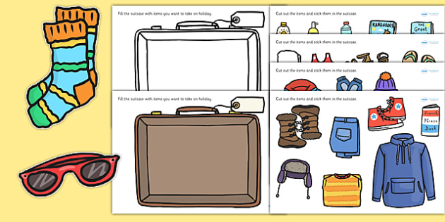 A cut and stick. Luggage clipart pack suitcase