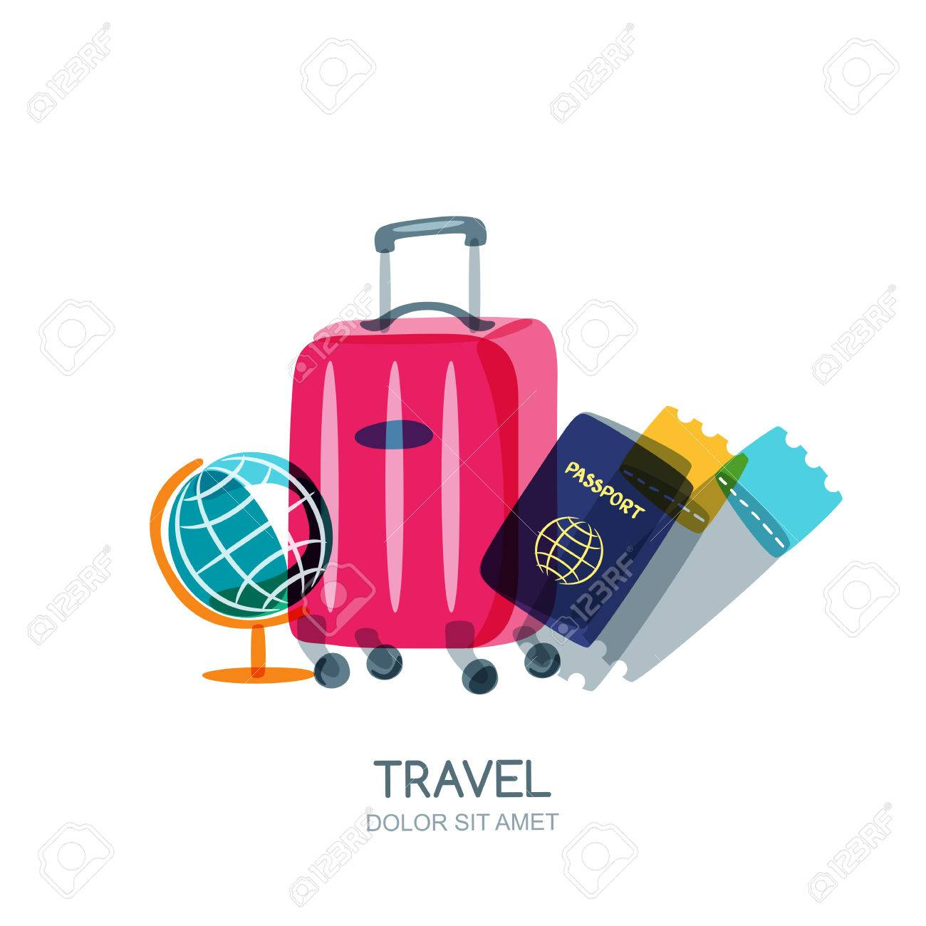 Luggage clipart passport. Free download clip art