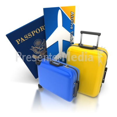 Luggage clipart passport. Ticket panda free images