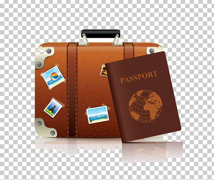 Luggage clipart passport. Suitcase baggage png bag