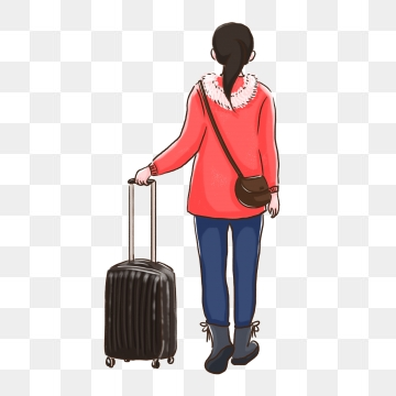 Suitcase images png format. Luggage clipart person