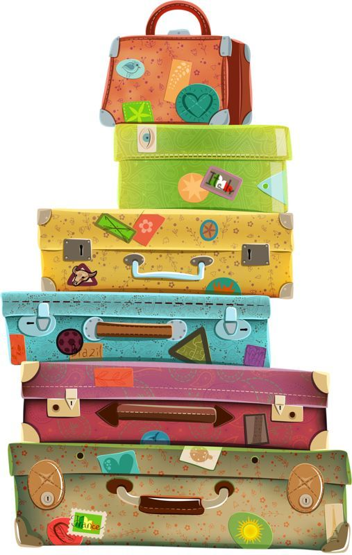 Luggage clipart pile. Travel suitcase clip art