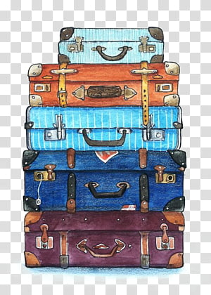 Luggage clipart pile. Suitcase travel baggage backpack