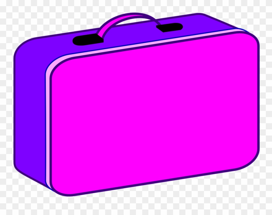 Lunchbox clipart pink. Luggage suitcase lunch box
