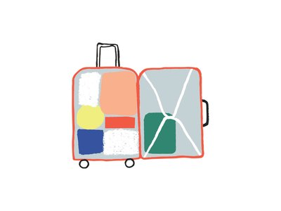 How to pack everything. Luggage clipart plane luggage